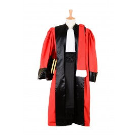Robe d'audience Magistrat Cour d'appel - Robe rouge La Traditionnelle